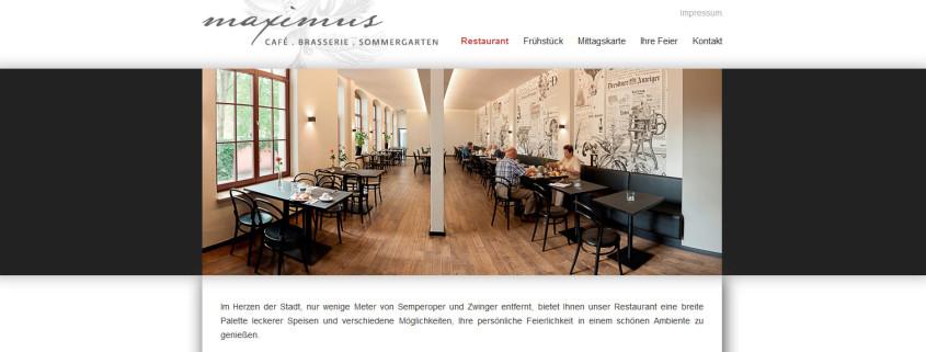 Überarbeitung der Webseite für das Dresdner Restaurant Maximus