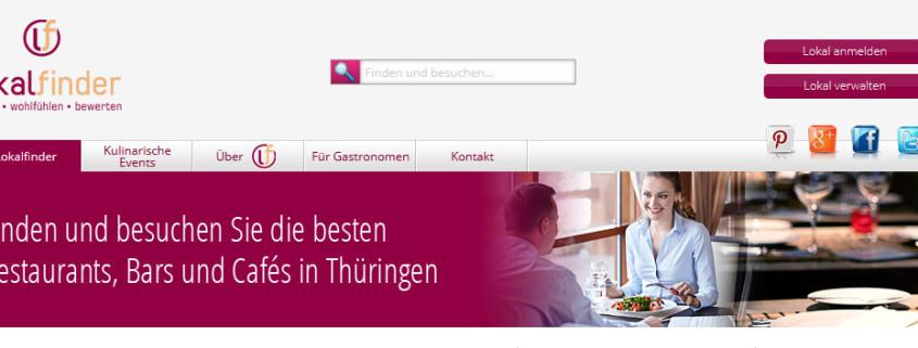Erstellung einer Webseite für den Lokalfinder Thüringen