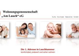"""Erstellung einer neuen Webseite für die Wohngenossenschaft """"Am Lauch"""""""