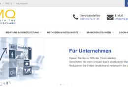 Neugestaltung der Webseite für die Zentrale für Management & Qualität