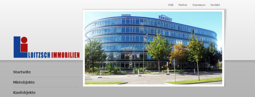 Entwicklung einer neuen Webseite und Anbindung an das CRM FlowFact für Loitzsch Immobilien