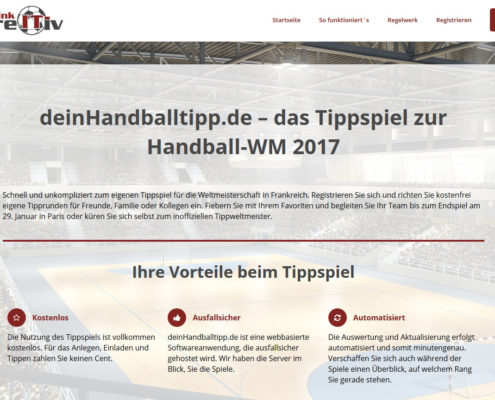 Startseite deinHandballtipp.de