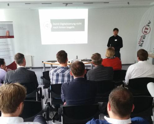 Dirk Faustmann auf der kreITiv-Infoveranstaltung zur Digitalisierung