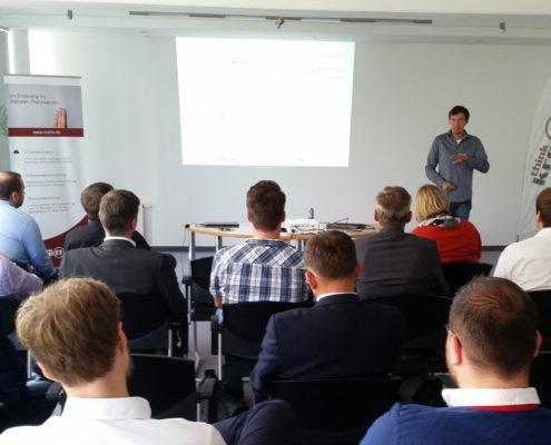Markus Schumann auf der kreITiv-Infoveranstaltung zur Digitalisierung