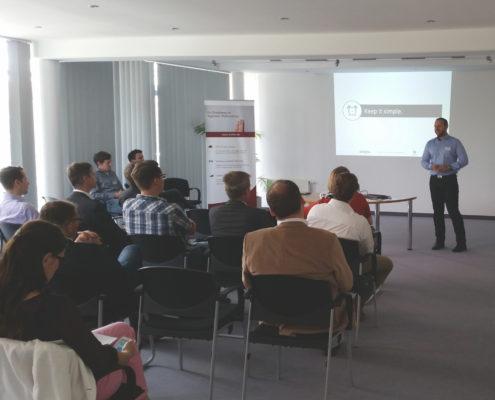 Sebastian John auf der kreITiv-Infoveranstaltung zur Digitalisierung