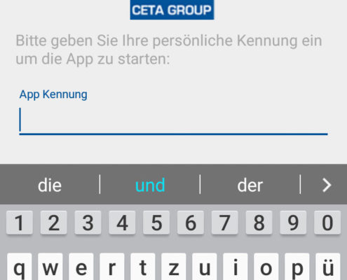 Die Anmeldung in der CETA App