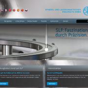 Screenshot der Startseite www.slf-fraureuth.de