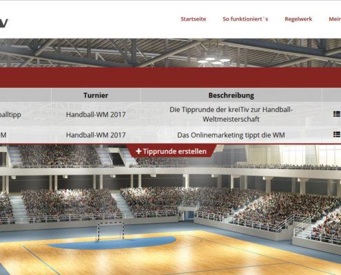 Tipprundenübersicht deinHandballtipp.de