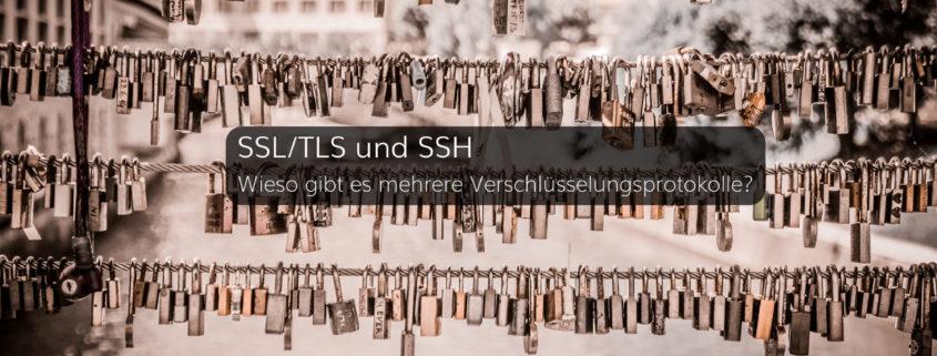 Wofür stehen SSL, TLS und SSH und wie werden sie zur Verschlüsselung eingesetzt?