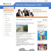 Die Webseite der Sächsischen Bildungsagentur
