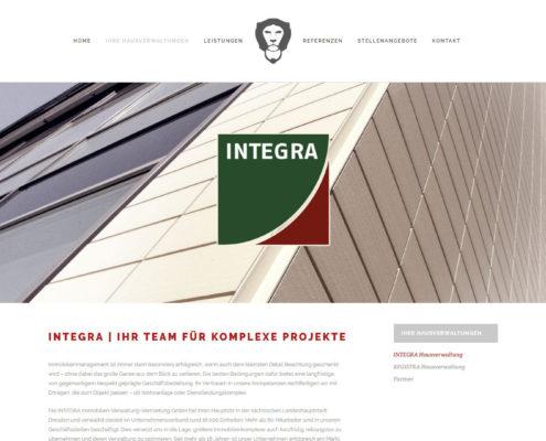 Webseite der integra Webseite integra Immobilien-Verwaltung-Vermietung-GmbH