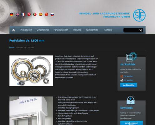 Screenshot der Webseite www.slf-fraureuth.de