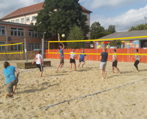 Beachvolleyball mit dem kreITiv-Team
