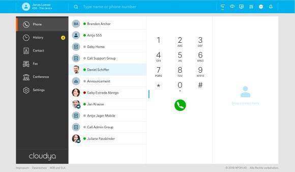 Ein VoIP-Login und eine einheitliche Oberfläche auf Desktop- und Mobilgeräten